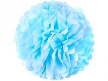 Pompony Papierowe Błękitne 35cm Duże [Komplet - 20 Sztuk]
