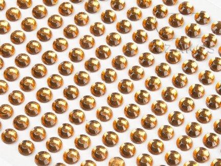 Kryształki samoprzylepne 6mm Bursztyn [10 Blistrów]