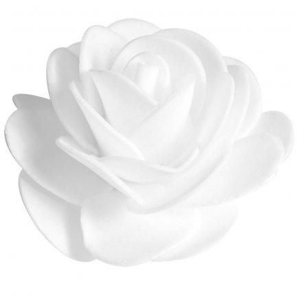 Różyczki z Pianki Białe 60mm [Zestaw - 10 kompletów po 10 szt]