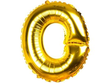 Balony Foliowe Literka O Złota 40cm - [ Komplet - 20 sztuk]