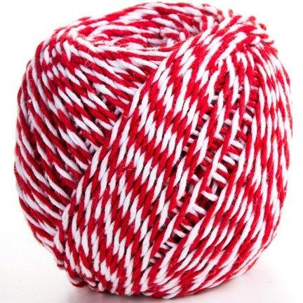Sznurek Piekarski Czerwono Biały ok. 70m [Komplet 12szt]
