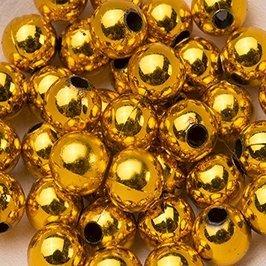 Koraliki Perełki 8mm 10g Kolor Złoty 09 [ Zestaw - 50 Kompletów]