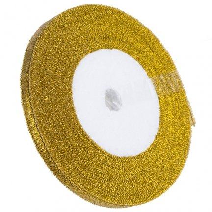 Tasiemka Brokatowa 6mm Złota  [Zestaw - 20 sztuk]