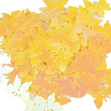 Cekiny Motylki Żółte - [ Komplet - 20 sztuk]