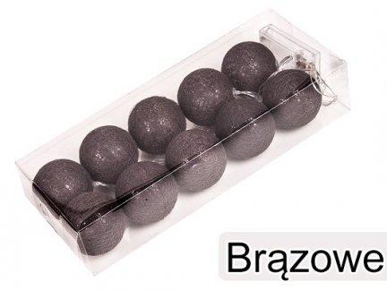 Cotton Balls Kolor Brązowy [Zestaw - 5 Kompletów]
