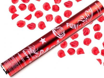 Konfetti Płatki Róż 40cm Czerwone [Komplet - 20 Sztuk]