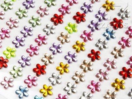 Kryształki Kwiatki 8mm Mix Kolorów [10 Blistrów]