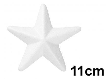 Gwiazda Styropianowa 3D Mała 11cm [Komplet - 30 sztuk]