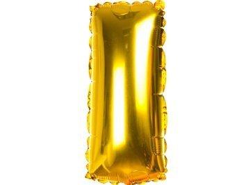 Balony Foliowe Literka I Złota 40cm - [ Komplet - 20 sztuk]