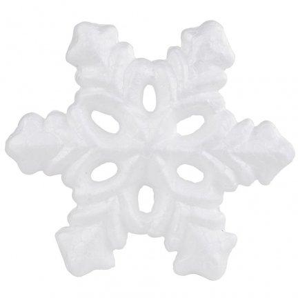 Styropianowa Śnieżynka 13cm [ Zestaw 20 sztuk ]