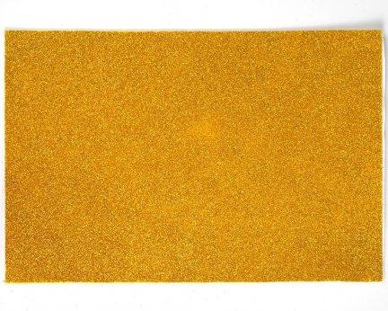 Pianka Brokatowa Z Klejem Samoprzylepna Złota 10 sztuk [Zestaw - 10 Kompletów]