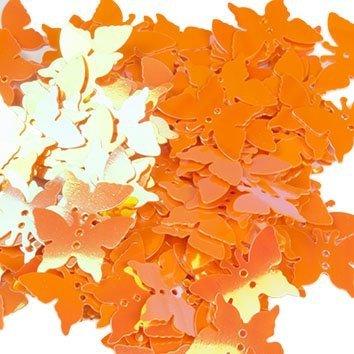 Cekiny Motylki Pomarańczowe- [ Komplet - 20 sztuk]