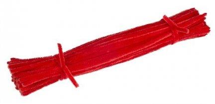 Druciki kreatywne czerwony - 5 paczek po 100szt.