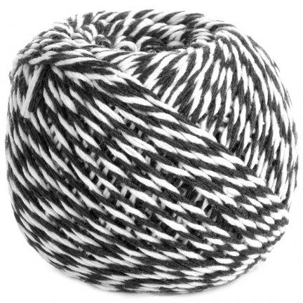 Sznurek Piekarski Czarno Biały ok. 70m [Komplet 12szt]