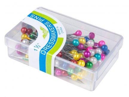 Szpilki z Perełką Kolor Mix 100 pudełek