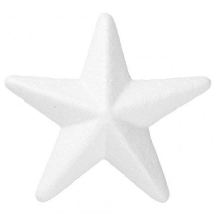 Gwiazda Styropianowa 3D Mała 9cm [Komplet - 60 sztuk]
