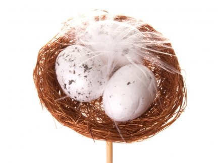 Jajka w Gniazdku na Patyku [ Komplet - 40 Sztuk]