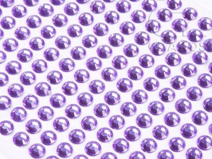 Kryształki samoprzylepne 6mm Wrzos [10 Blistrów]