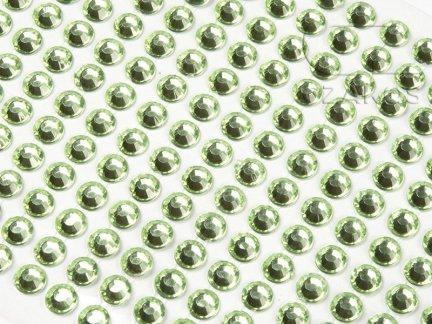 Kryształki samoprzylepne 4mm Zielony  [10 Blistrów]