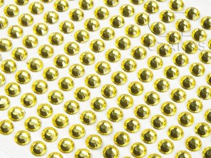 Kryształki samoprzylepne 4mm Żółty  [10 Blistrów]
