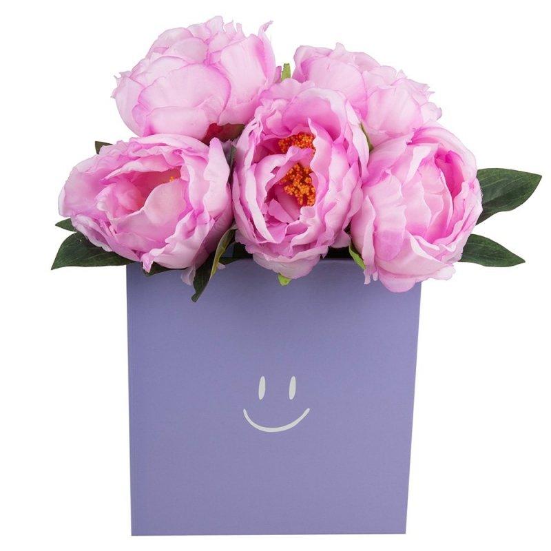 "Flower Box Kwadrat ""Smile"" Lawenda Średni 2"