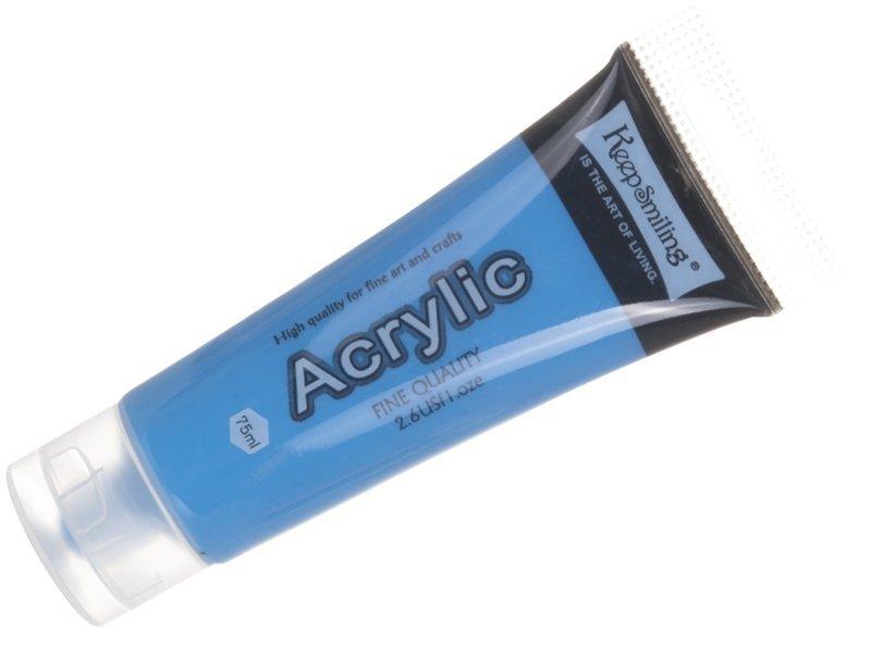 Farba akrylowa 75ml Błękitna [komplet - 5 sztuk]