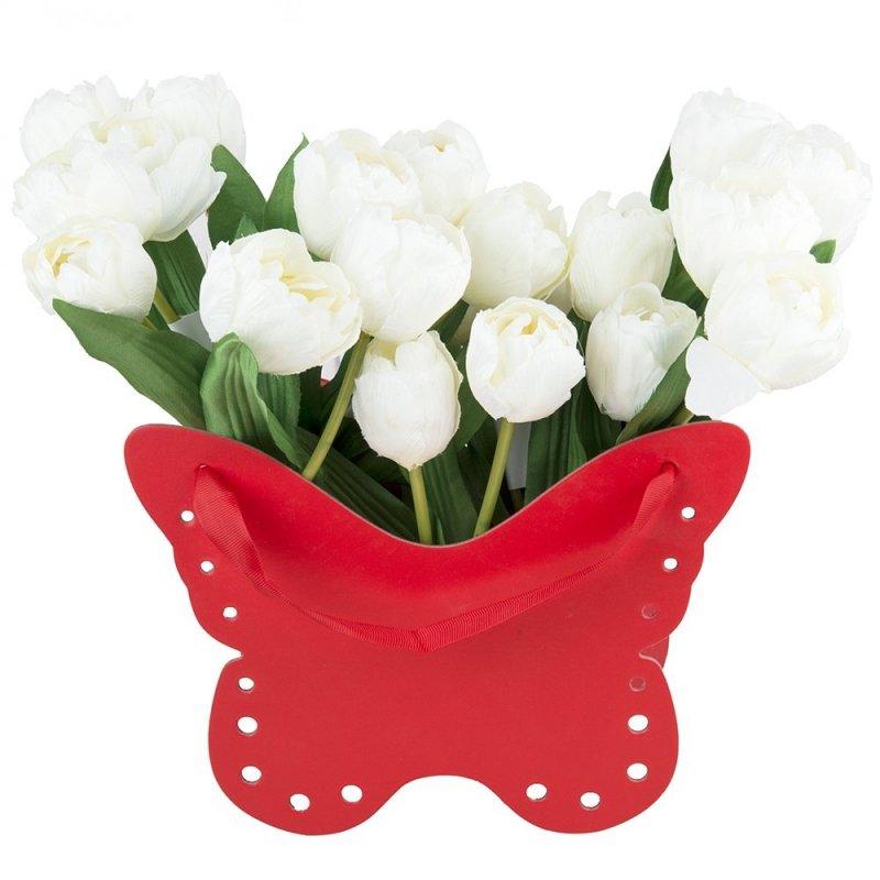 Flower Box Osłonka Motyl Czerwony 2
