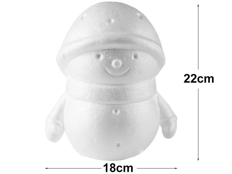 Bałwan Styropianowy Gigant 22cm  [Komplet - 5 sztuk]