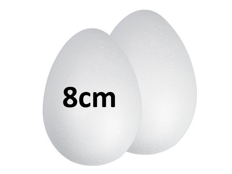 Jajka Styropianowe 8cm [Komplet-Zestaw 860szt]