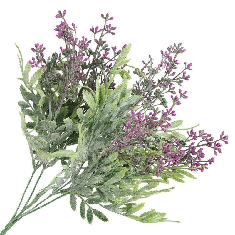 Gałązka Dekoracyjna Kwiaty Liście Amarant