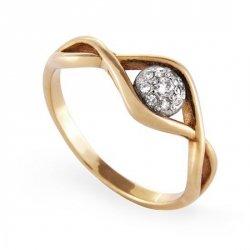 ARTES-Pierścionek złoty zaręczynowy A-33/375