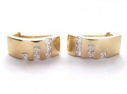 Kolczyki złote 585 na klapkę, zatrzaskowe - ARTES-Kolczyki złote 436 PR. 585