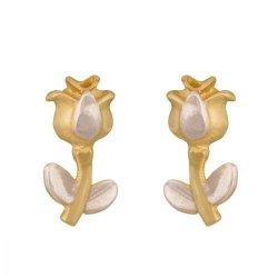 Złote kolczyki 585 - Kolczyki złote 585 sztyft - Kv100