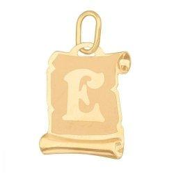 Zawieszka złota 585 litera, literka E -  Lv02e