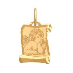 Zawieszka złota 585 Aniołek, Amorek -  34020
