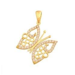 Zawieszka złota 585 motylek - 42601