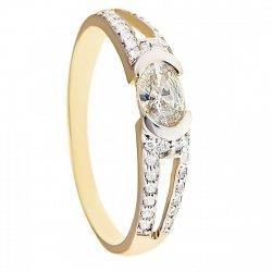 ARTES-pierścionek złoty zaręczynowy 660/375
