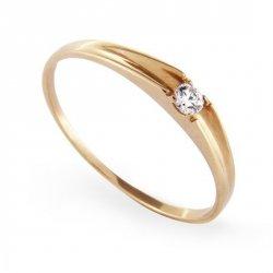 ARTES-Pierścionek złoty zaręczynowy A-49/375