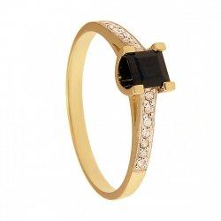 ARTES-Pierścionek złoty  z szafirem 570/375