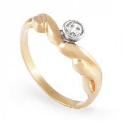 ARTES-Pierścionek złoty zaręczynowy A-99/375