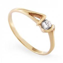 ARTES-Pierścionek złoty zaręczynowy A-58/375