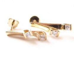 Kolczyki złote 585 na klapkę, zatrzaskowe - ARTES-Kolczyki złote 550 PR. 585