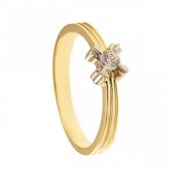 ARTES-Pierścionek złoty zaręczynowy 24H PROMOCJA! BC-76 PR. 375