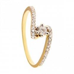 ARTES-Pierścionek złoty zaręczynowy BC-118 PR. 375