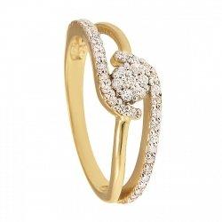 ARTES- Pierścionek złoty zaręczynowy 686/375