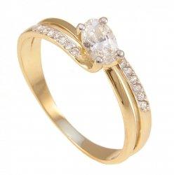 ARTES- Pierścionek złoty zaręczynowy  583/375