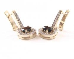 Kolczyki złote 585 na klapkę, zatrzaskowe - ARTES-Kolczyki złote 504 PR. 585