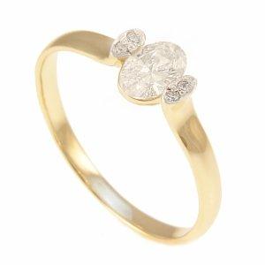 ARTES- Pierścionek złoty zaręczynowy 24H PROMOCA! 585/375