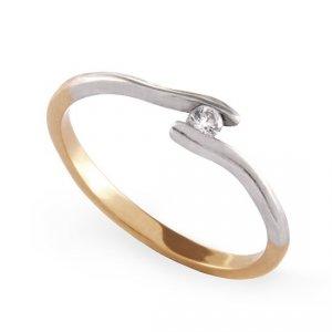 ARTES-Pierścionek złoty zaręczynowy 24H PROMOCJA! A-64/375