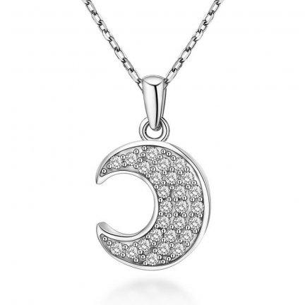 Zawieszka wisiorek srebrny 925 Księżyc